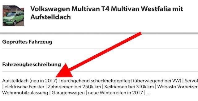 Aufstelldach neu VW Bus T4