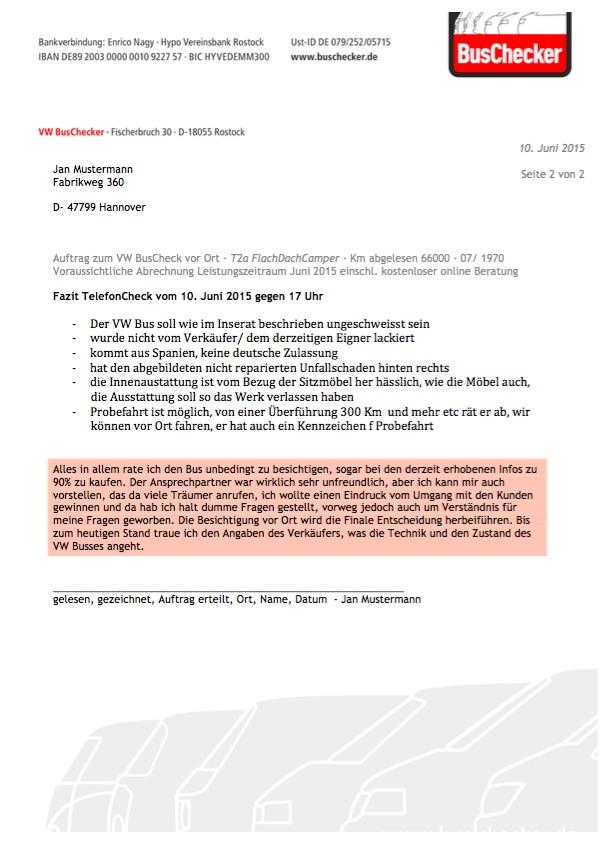 Auftrag BusChecker Beispiel Seite 2 von 2