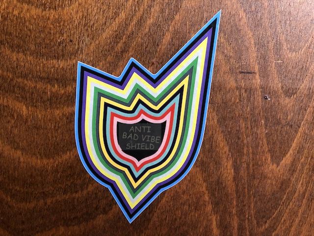 Sticker Anti bad vibe shield BusChecker