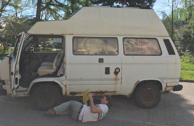 vw bus check t3 westfalia hochdach camper mit dem. Black Bedroom Furniture Sets. Home Design Ideas
