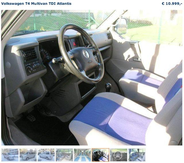 VW Bus Inserate checken mit FAN360 abweichendes Innenraum Bild nr 3 von 4 in einem Inserat