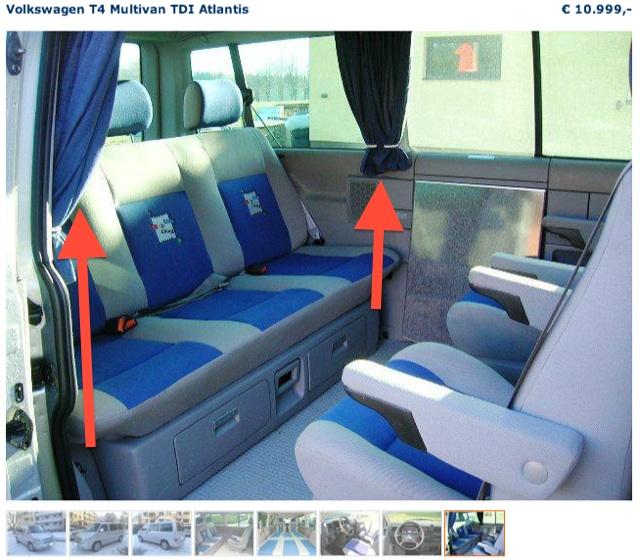 VW Bus Inserate checken mit FAN360 abweichendes Innenraum Bild nr 4 von 4 in einem Inserat