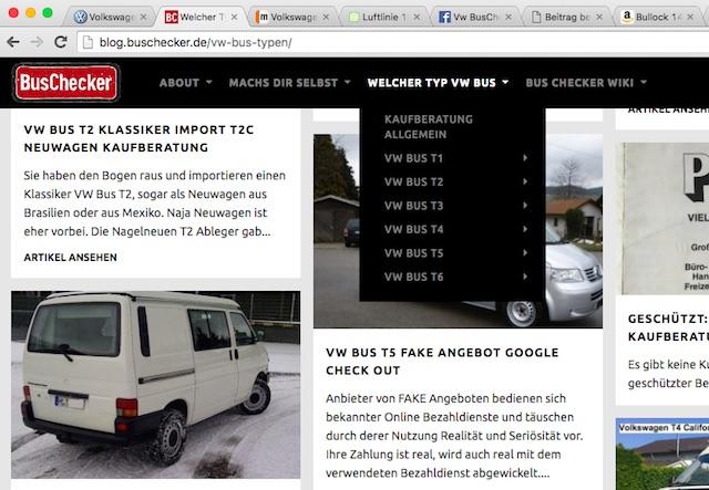 VW Bus Rubriken gehen auf Modellspezifische Fragen ein BusChecker Wiki