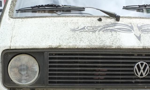VW Bus T3 Scheunenfund mit Moos