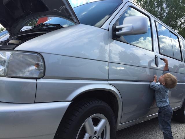 VW Bus T4 reparierter Unfall und Diebstahlschaden