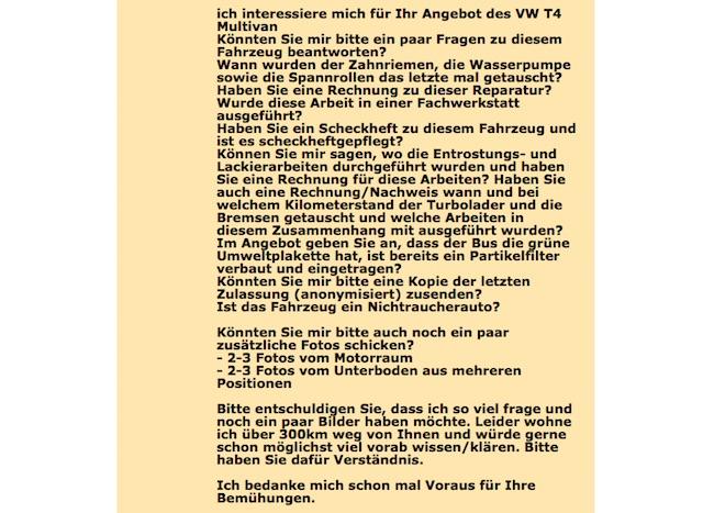 VW Bus kaufen Checkliste BusChecker