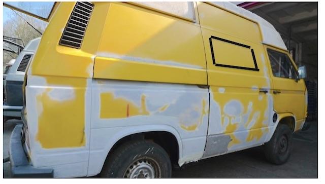 VW Bus T3 1.7 D Schiebetür mit Fenster Entwurf nach technischer Revision vor Deiner Lackkur