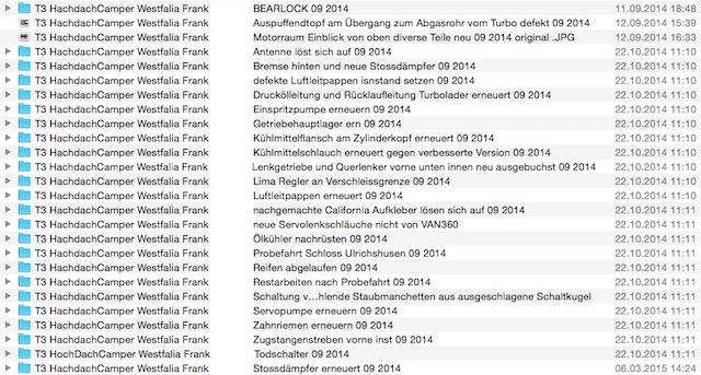 VW Bus T3 Reparaturen chronologisch in Begleitung mit dem BusChecker