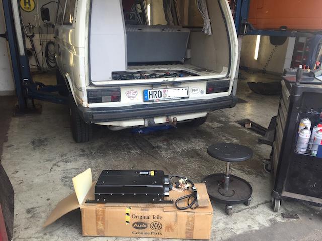 VW Bus T3 Standheizung nachrüsten