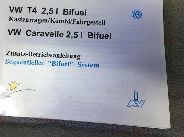 VW Bus T4 Gasbetrieb Bifuel Betriebsanleitung