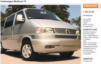 VW Bus T4 Inserat checken mit dem VW BusChecker