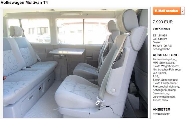 VW Bus T4 Serie 1 mit Ausstattung Serie 2 da stimmt was nicht