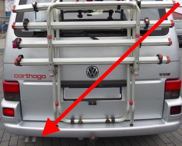 VW Bus frisch lackierter Auspuff FINGER WEG den brauchen Sie nicht kaufen