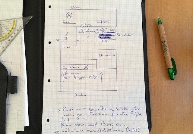 VW Bus selber ausbaun Ausbauplan