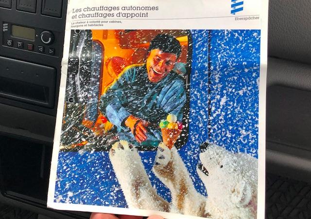 Werbeprospekt 1980 Eberspächer mit Eisbär