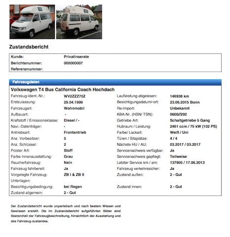 Zustandsbericht online Gutachter Seite 1 von 15
