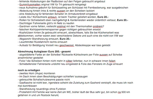 to do Liste California Exclusiv Teil 2 von 2