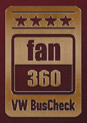 4 Sterne FAN360 VW BusCheck spezialiserter VW Bus Werkstätten