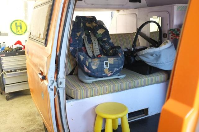 VW Bus T3 Dreipunktgurte hinten ohne Gurtverlaengerung