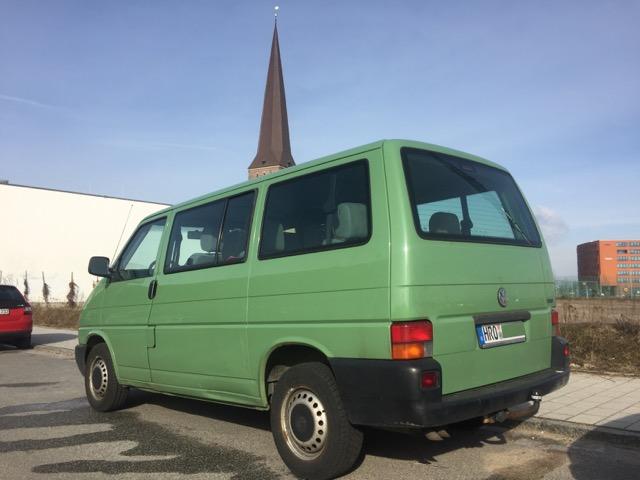 VW Bus T4 Rost am Kotflügel hinten links nicht zu sehen