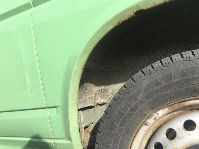 VW Bus T4 Radhaus hinten links Rost nach einem Jahr