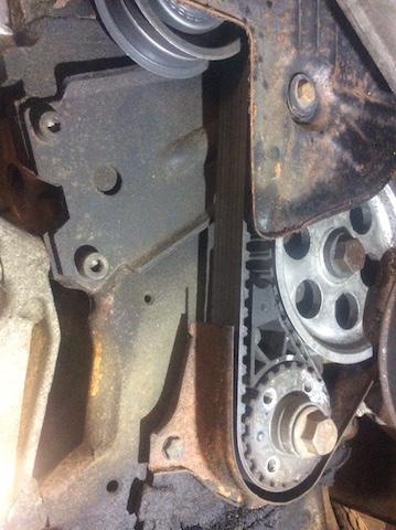 T3 Diesel Motor CS erste Serie altes Zahnriemenrad und alte Zahnriemenabdeckung