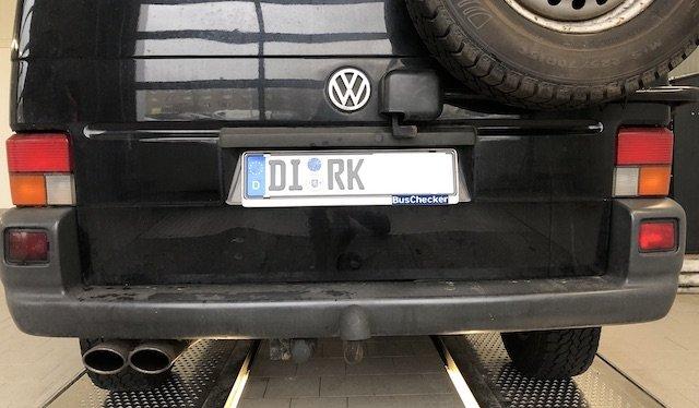 VW Bus Kennzeichen DI - RK