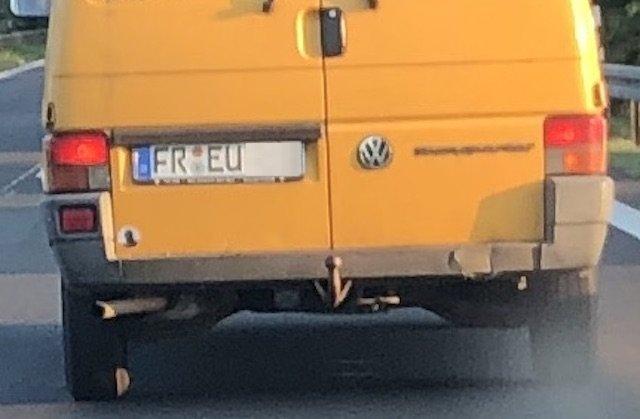 VW Bus Kennzeichen Sammlung BusChecker FR EU