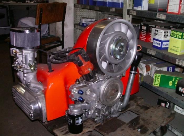 VW Bus T2 Boxer Motor Luft gekühlt mit Porsche Gebläse
