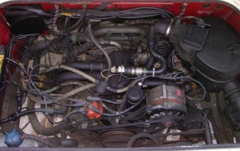 VW Bus T3 Boxer Benziner per Wassergekühlt Motorraum von oben