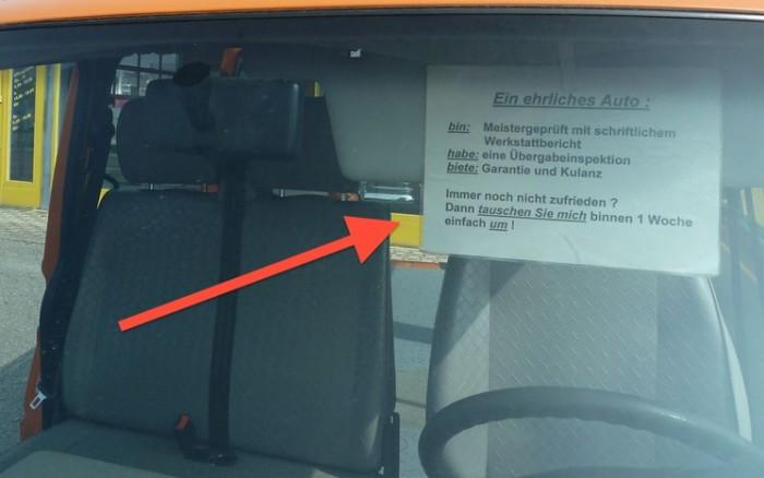 VW Bus T4 Syncro kaufen mit FAN360 netter Hinweis eines Händlers Umtauschrecht binnen einer Woche