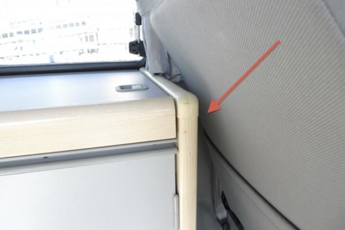VW Bus T4 Westfalia Spüle hinterm Fahrersitz
