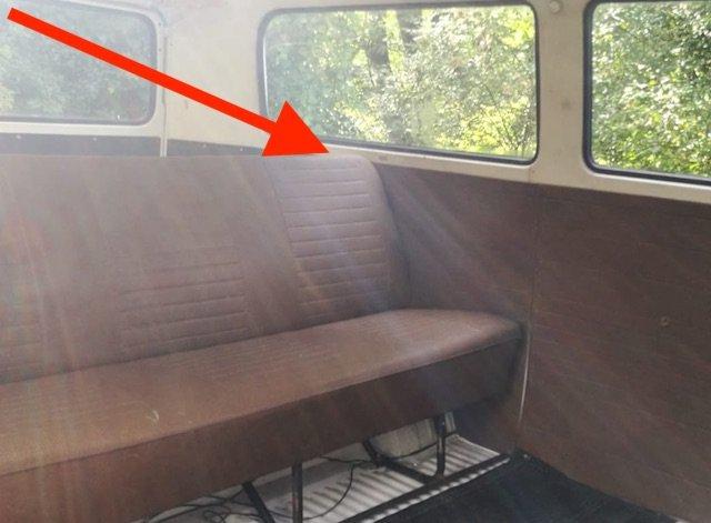 Vw Bus T2 hat kein Dreipunktgurt hinten