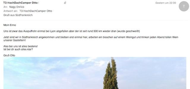 BusChecker feed back Otto scheibt aus Frankreich 05 2016