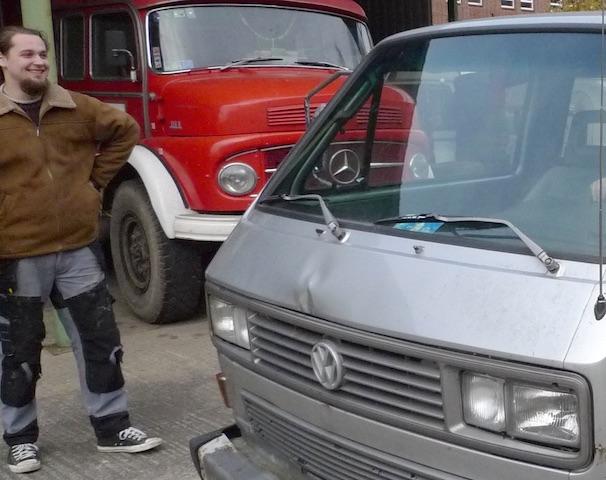 EIn VW Bus ist verkauft des neuen Eigners Freud