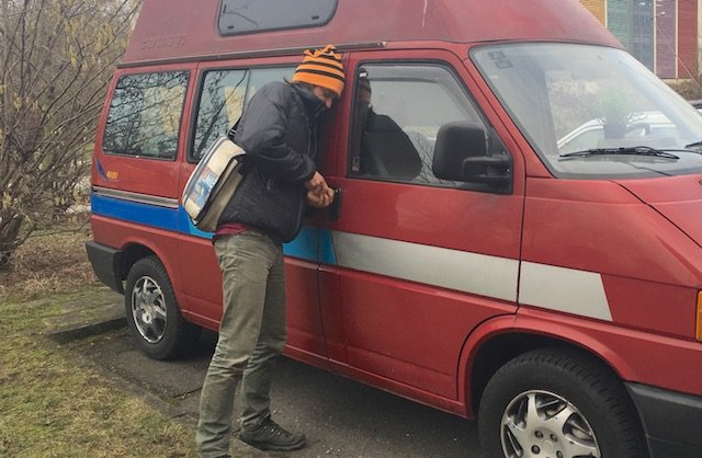 Ein VW Bus Dieb ist ein Profi