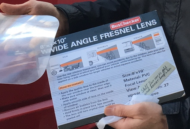 Fresnel Linse Test mit dem Bus Checker
