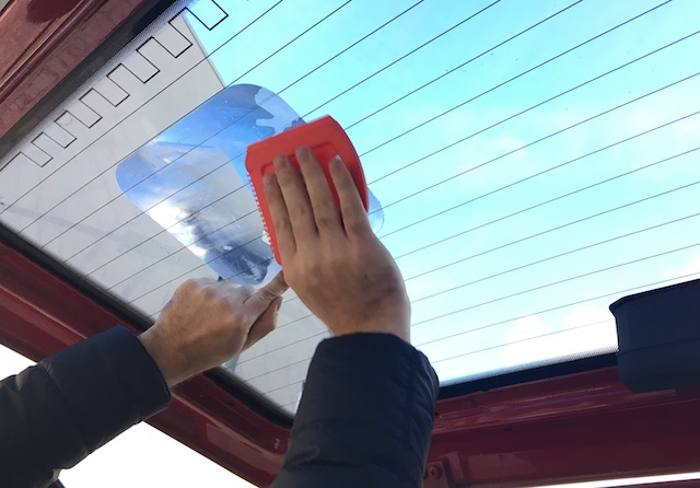 Fresnel Linse im VW Bus Rueckfahrhilfe