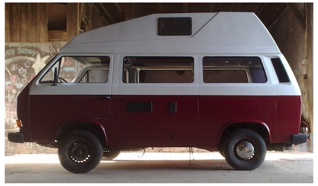 Peter hat seinen VW Bus über den Winter flott gemacht 04 2013