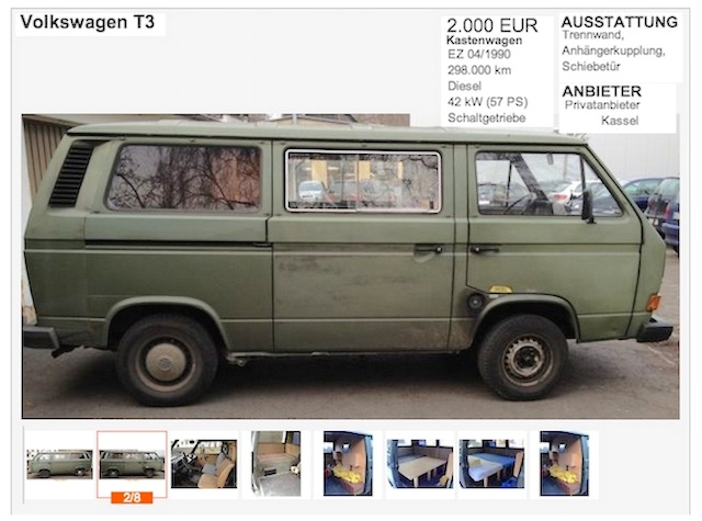 T3 1.7 D Bundeswehr kaufen mit dem BusChecker Referenz Vanessa Leipzig