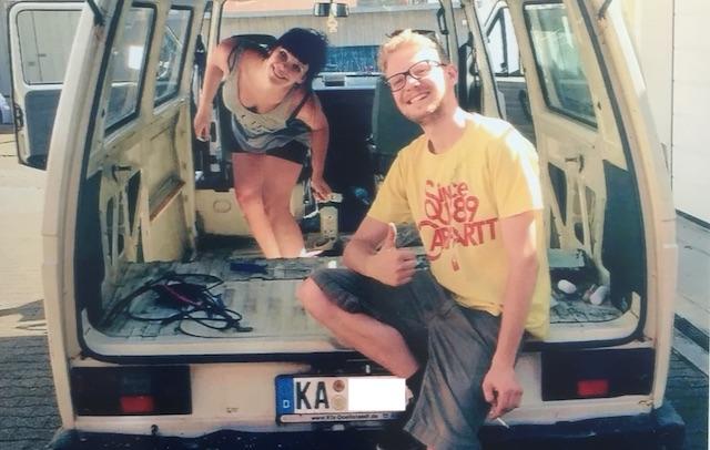 T3 Postbus kaufen mit dem BusChecker Refernz Lisa und Tobias 06 2015 Grusskarte