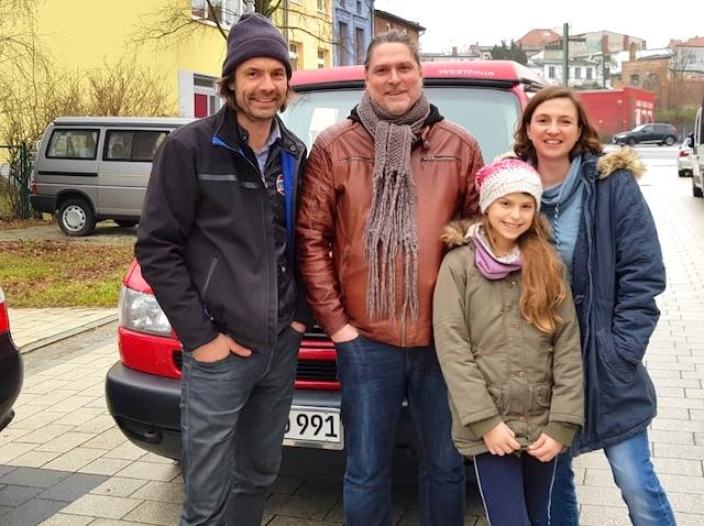 T4 California Julia Uebergabe Dezember 2018 VW Bus Checker Referenz