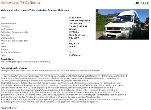 T4 HochDachCamper California selber baun mit dem BusChecker