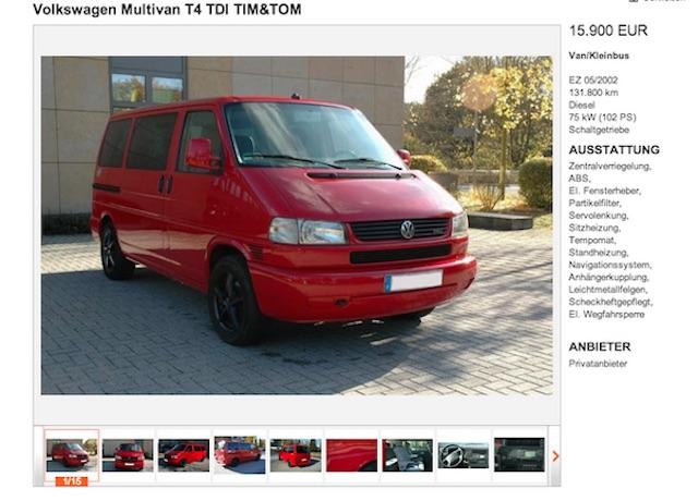 T4 Multivan TIM TOM BusChecker Referenz Basti aus Berlin 03 2013