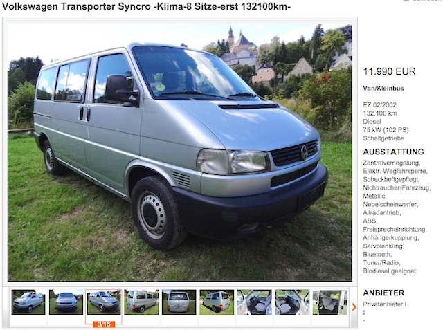 T4 Syncro Caravelle CL Arne aus Dresden Bus Checker Referenz 11 2015 Inserat