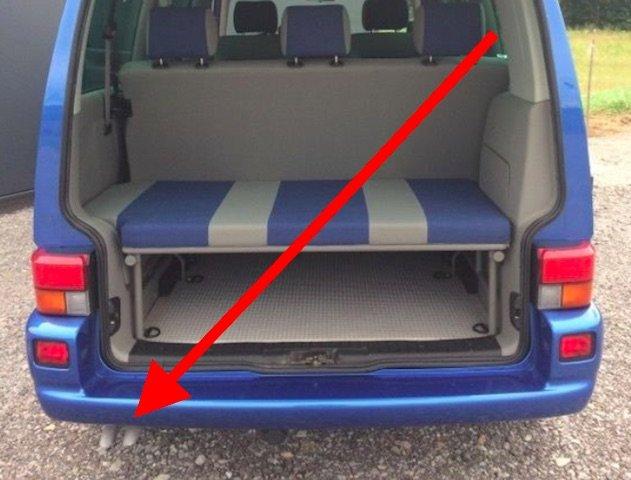 VW Bus Angebote von privat mit silber lackiertem Auspuff VORSICHT