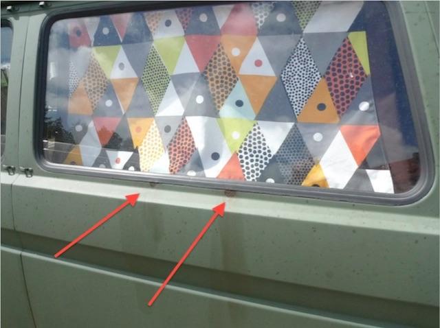 VW Bus Bundeswehr mit leichten optischen Mängeln nicht manipuliert