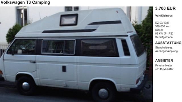 VW Bus HochDachCamper kaufen mit dem BusChecker Referenz Peter