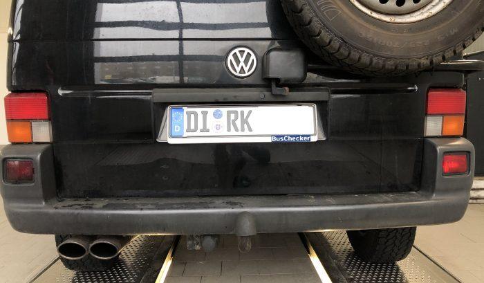 VW Bus Kennzeichen Dirk 03 2019