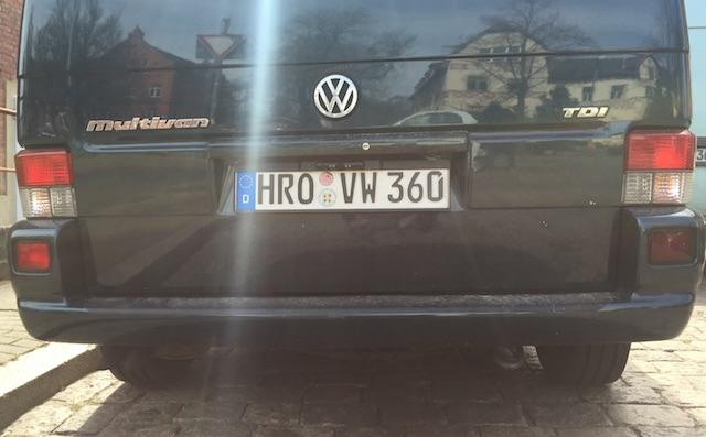 VW Bus Rückfahrkamera nachrüsten mit dem VW Bus FAN360